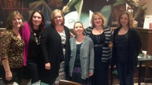 Angie Stanton, Tracey Garvis-Graves, Colleen Hoover, Laura Bradley-Rede, Abbi Glines and Tammara Weber in Minneapolis
